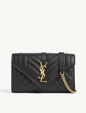 SAINT LAURENT Monogram leather satchel