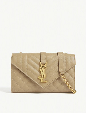 SAINT LAURENT Monogram small leather satchel