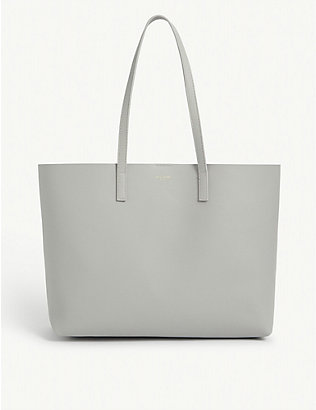 SAINT LAURENT: Leather tote bag