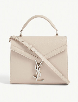 SAINT LAURENT Cassandra mini leather top handle bag
