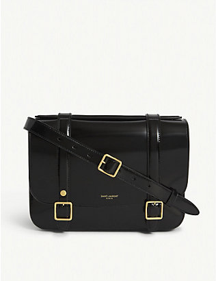 SAINT LAURENT: Patent leather satchel
