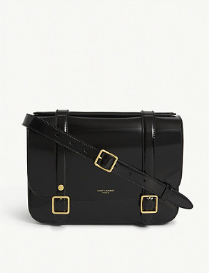 SAINT LAURENT Patent leather satchel