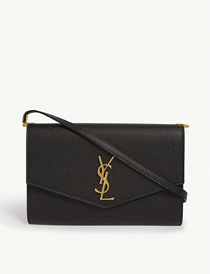 SAINT LAURENT Uptown grained leather cross-body bag