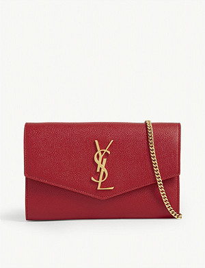 SAINT LAURENT Uptown leather shoulder bag