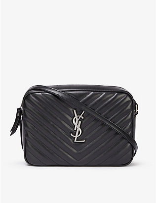 SAINT LAURENT: Lou quilted leather camera bag