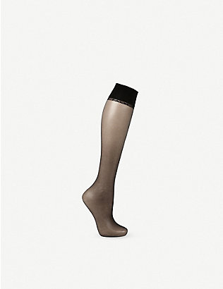 FALKE: Shelina 12 denier knee-high pop socks