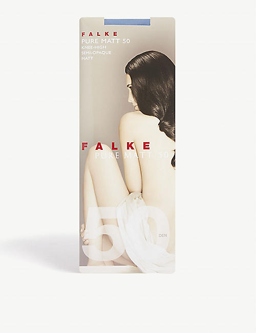 FALKE Pure Matt knee-high socks