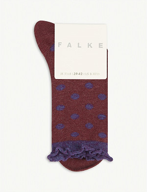 FALKE Soft dot socks cotton blend socks