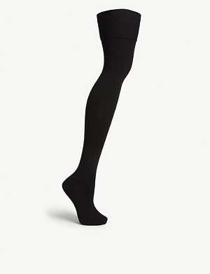 FALKE Striggings over-the-knee wool-blend socks