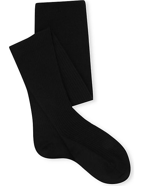 FALKE: Ribbed knee-high wool socks