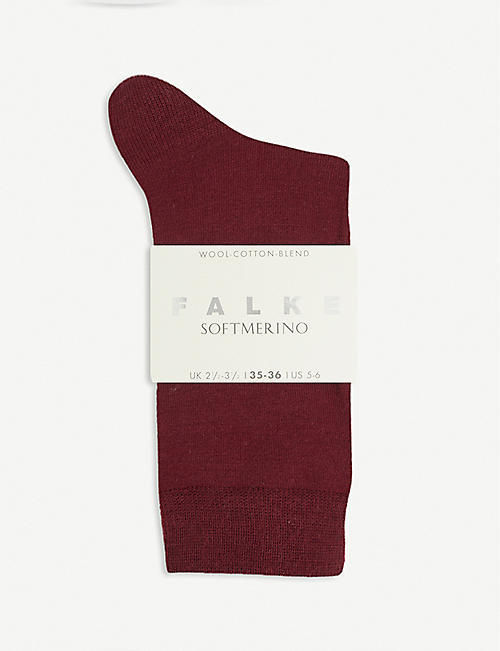 FALKE: Ribbed wool socks