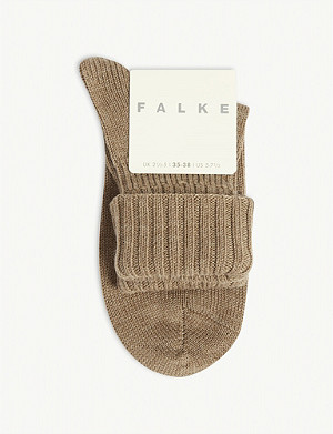 FALKE Seasons striggings ribbed wool ankle socks