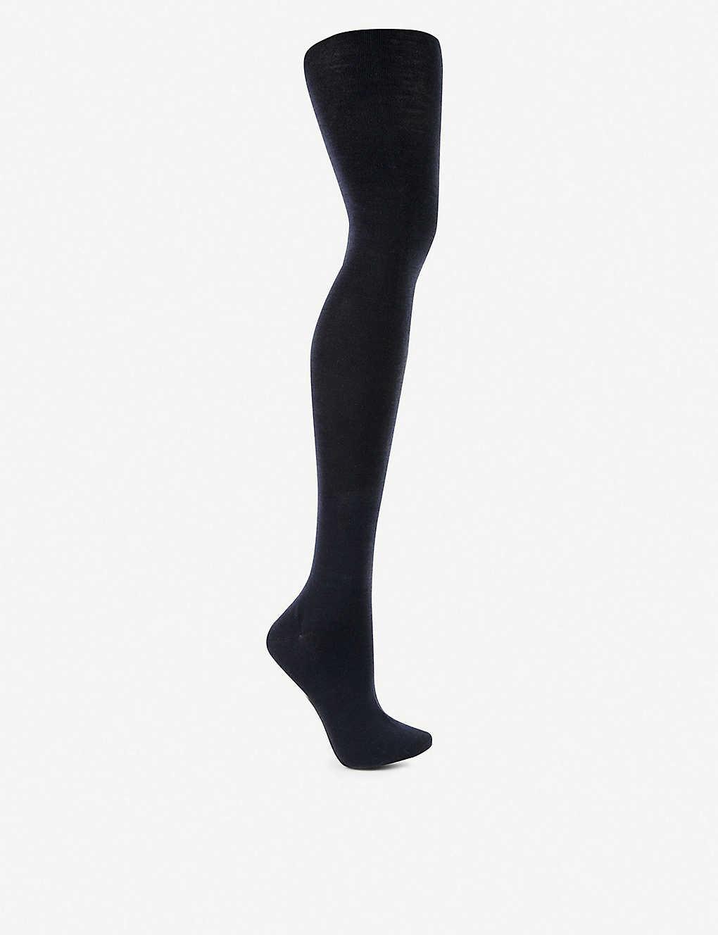 bf5707e32 Soft Merino wool-blend tights - 6379 dark navy ...