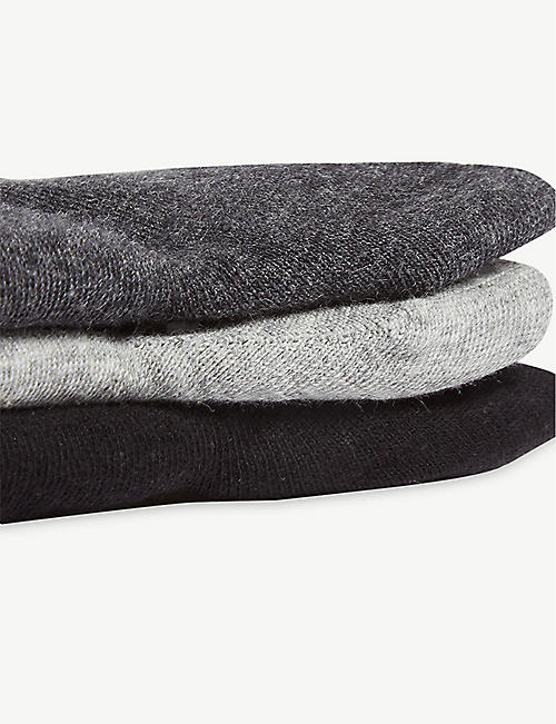 CALVIN KLEIN Roll top ankle socks set of three