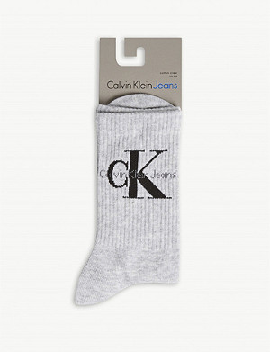 CALVIN KLEIN Logo cotton-blend socks