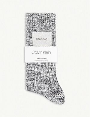 CALVIN KLEIN Hazard combed cotton socks