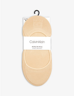 CALVIN KLEIN: Pack of 2 ballet liner socks
