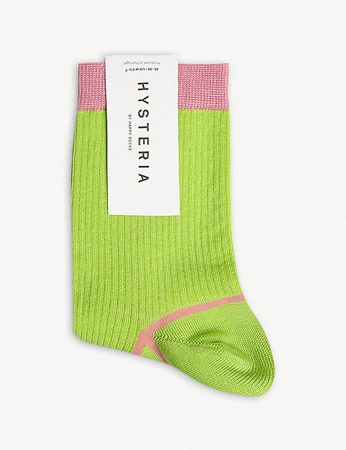 HYSTERIA Cotton-blend Lily ankle socks