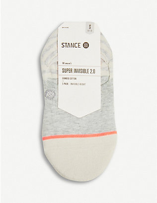 STANCE: Sensible pack of three cotton-blend socks