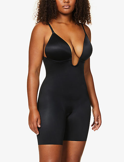 SPANX Suit Your Fancy plunge stretch-jersey body