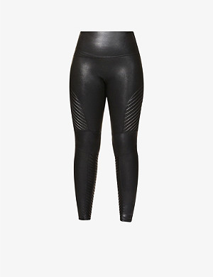 22759772f9724f SPANX - High-rise faux-leather leggings | Selfridges.com