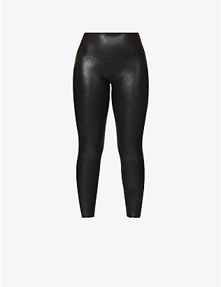 SPANX: High-rise faux-leather leggings