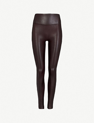 choose clearance various styles reliable quality High-rise faux-leather leggings