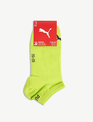 PUMA Logo cotton-blend trainer socks
