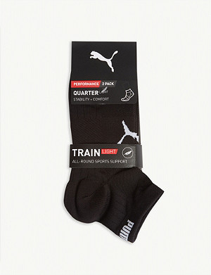 PUMA Train Light performance trainer socks set of two