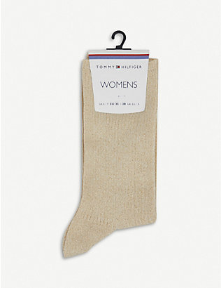 TOMMY HILFIGER: Glitter cotton-blend socks