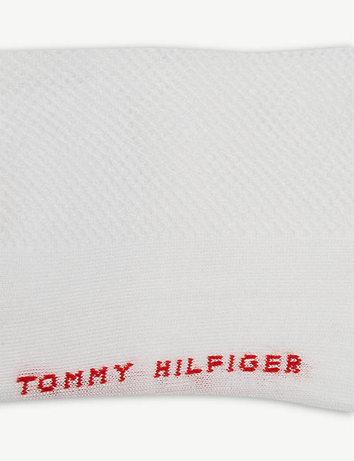 TOMMY HILFIGER Striped cuff cotton-blend set of two trainer socks