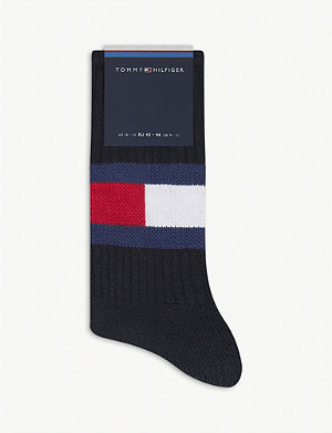 TOMMY HILFIGER Logo ribbed cotton socks