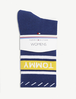 TOMMY HILFIGER Logo cotton-blend socks