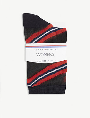 TOMMY HILFIGER Semi-sheer striped socks