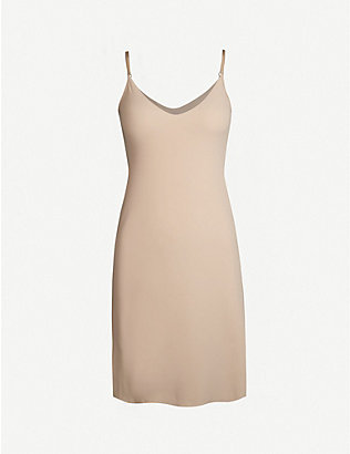 COMMANDO: Microfiber mini slip dress