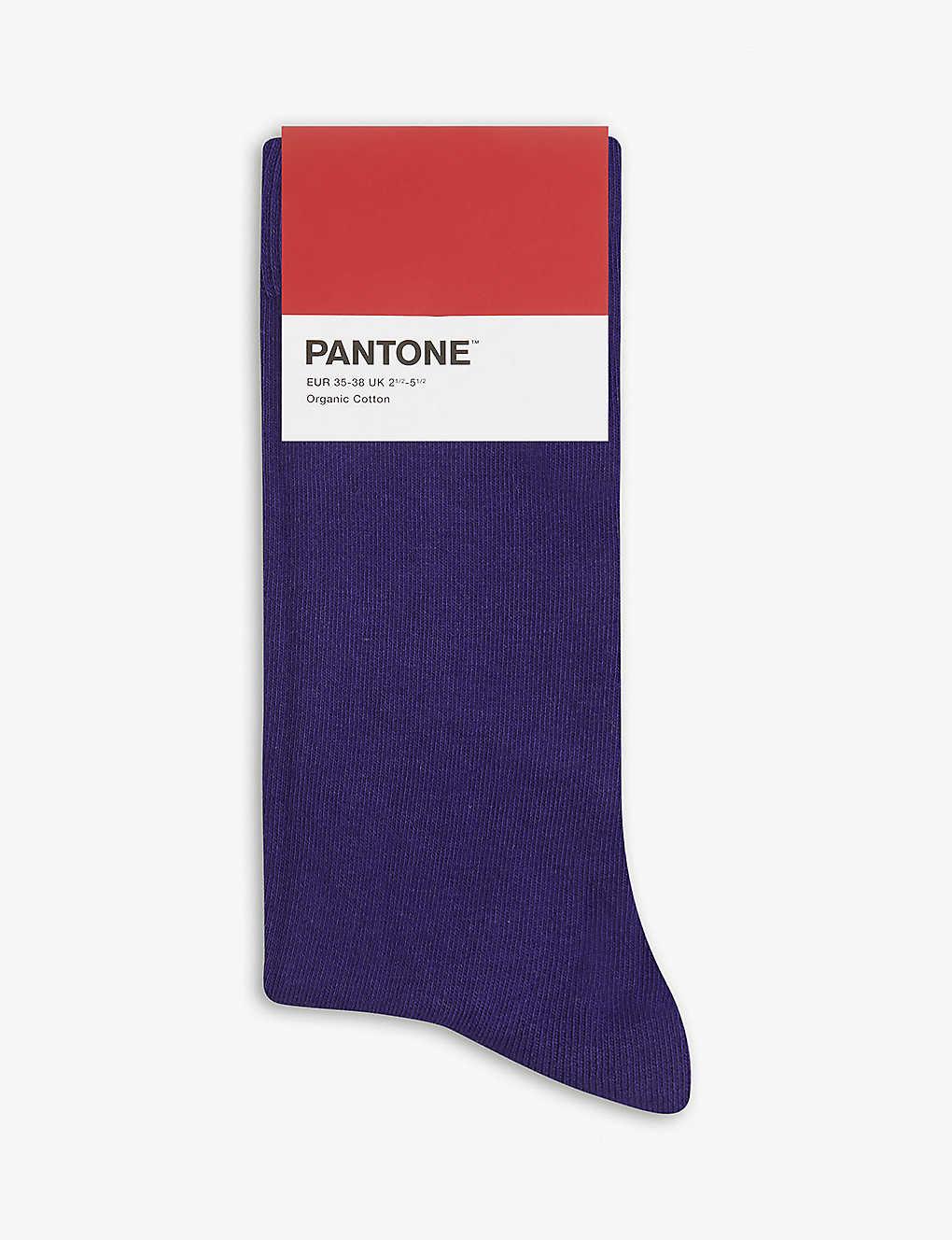 f9913f09b24e5 PANTONE - Cotton-blend logo socks   Selfridges.com