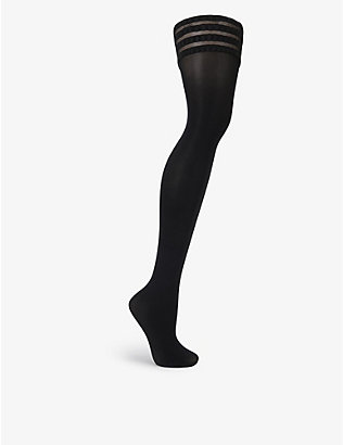 FALKE: Stay Up 50 denier stretch-knit stockings