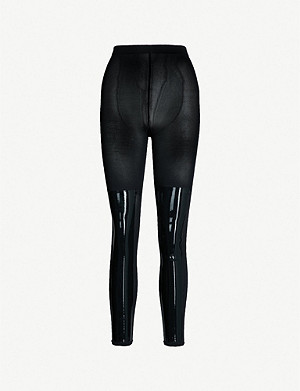 WOLFORD Barbara contrast-panel stretch-jersey leggings