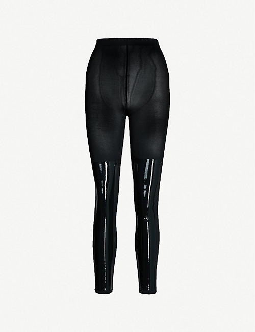 851728dd3673c WOLFORD Barbara contrast-panel stretch-jersey leggings