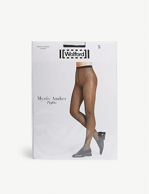 WOLFORD Mystic Amber net tights