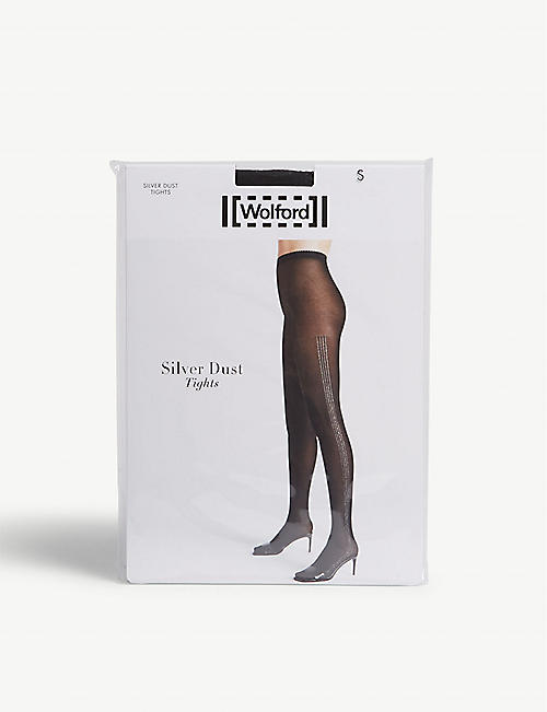 WOLFORD Silver dust knitted tights