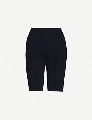 WOLFORD: High-rise stretch-jersey shorts
