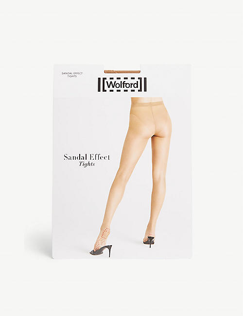4cdfc365116 WOLFORD Sandal effect sheer tights
