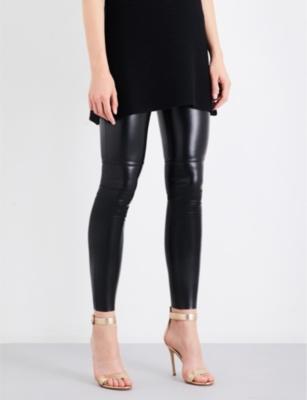 797582a3fad89 Wolford Estella Faux Stretch-Leather Leggings In Black | ModeSens