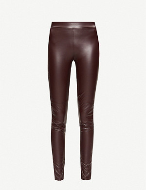 WOLFORD Estella faux-leather leggings