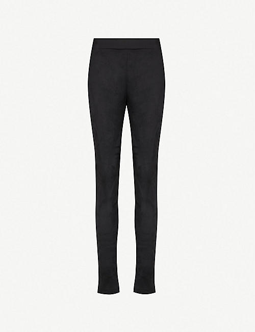 WOLFORD High-rise velour leggings