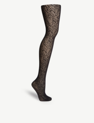 WOLFORD True blossom floral net tights
