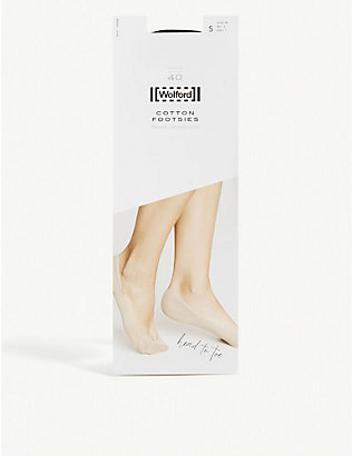 WOLFORD: Cotton blend footsie liner socks 40 denier