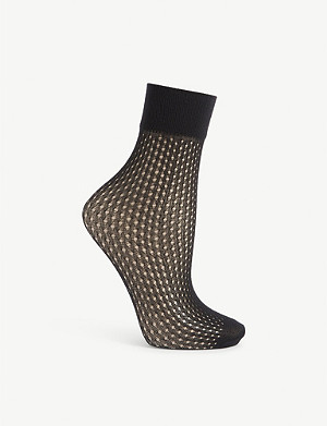 WOLFORD Fishnet ankle socks
