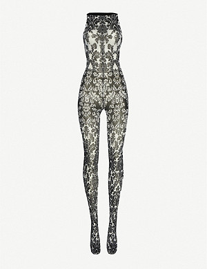 WOLFORD 70th anniversary patterned stretch-jersey jumpsuit